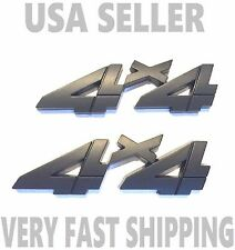 X2 Black 4 X 4 Smoked EMBLEM 4X4 old logo BADGE Front Hood Fender FIT ALL CARS