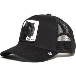 New Black Panther Goorin Bros Animal Farm Trucker Mesh Baseball Hat Snapback Cap