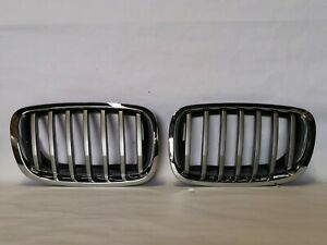 New Front Bumper Chrome Grille Fit BMW E71 X6 2013 2014 51137307599 51137307600
