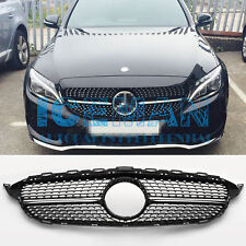 Mercedes-Benz C-Class W205 S205 Diamond Gloss Black Grill From 2013