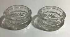 PAIR OF SMALL GLASS PIN / RING / TRINKET DISH VINTAGE