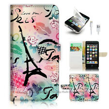 ( For iPhone 5 / 5S / SE ) Wallet Case Cover! P1836 Paris Eiffel Tower