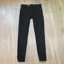 Women's AG Adriano Goldschmied The Legging Super Skinny Black Jeans 28R Smooth