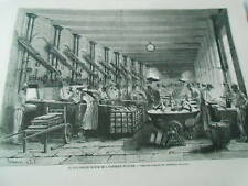 La Boulangerie Modèle salle des fours et des pétrisseuses mécanique Gravure 1874