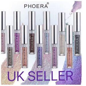 PHOERA EyeShadow Glitter Liquid Make Up Metallic Magnificent Metal  UK SELLER