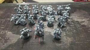 Warhammer 40k lot of unpainted figures 22 total units