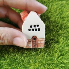 Little Red Ceramic House Miniature Dollhouse House Fairy Garden Handmade Decor