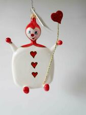 """New ListingNew Christopher Radko """" What a Card """" Queen of Hearts Guard Ornament Italy"""