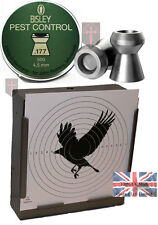 500 BISLEY Pest Control .177 Pellets Air Rifle + 100 14cm Crow Targets (4.5mm