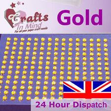 195 x 3mm Gold Rhinestone Diamante Gems Diamonte Round