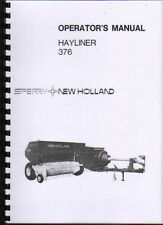 "New Holland ""Hayliner 376"" Baler Operator Instruction Manual Book"