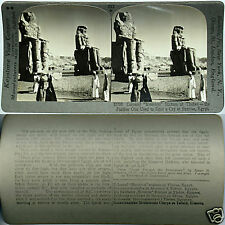 Keystone Stereoview The MEMMON STATUES at Thebes, EGYPT From 600/1200 Card Set