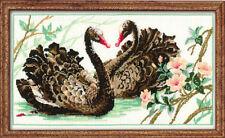 Black Swan Cross Stitch Kit - 40 cm x 24 cm (Riolis 417)