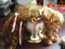 "Vintage Long Red Curly Hair Doll Wig 7"" Long"