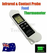 2 in 1 Infrared and Contact Probe Digital Cooking Meat Drink Food Thermometer
