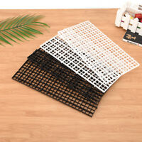 2 pcs grid divider tray egg crate louvre aquarium fish tank bottom isolate S Fy