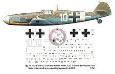 Peddinghaus 1/72 Bf 109 G-2 Markings Ernst-Wilhelm Reinert 4./JG 77 Libya 2242