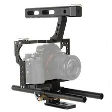 15mm Rod Rig DSLR Cam Video Cage Stabilizer+Top Handle Grip for Sony for Canon