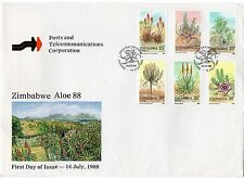 Zimbabwean Flowers Used African Stamps