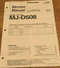 PIONEER MJ-D508 MINIDISC RECORDER ORIGNAL SERVICE REPAIR MANUAL