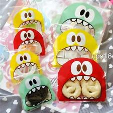 12 Mini Monster Themed Party Treat Bags Cookie Sweets Lollies Halloween Sweets