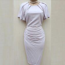 Karen Millen Nude Big Sleeve Drape Jersey Cocktail Party Evening Dress UK-10 38