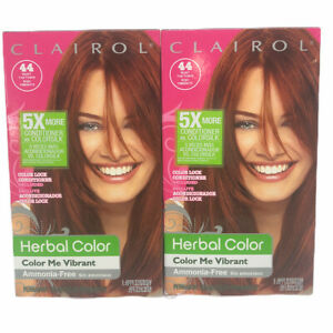 2 Pack Clairol Herbal Color Me Vibrant 44 Paint the Town Deep Red Hair Dye