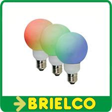 BOMBILLA LAMPARA 20 LEDS COLOR RGB E27 DIAMETRO 80MM 1W UNIDAD BD2050