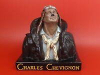 Vintage, Buste Publicitaire, Statue de l'Aviateur de Charles Chevignon. 6,4 kg