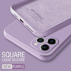 Square Phone Case For iPhone 11 Pro Max SE XS XR 8 7 Liquid Silicone Soft Cover