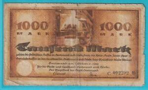 Notgeld 4600 Dortmund Hörde 1000 Mark aus 1922