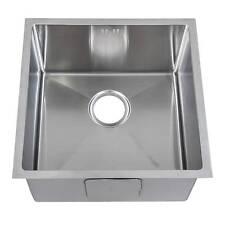 Handmade 1.0 Bowl Satin Stainless Steel Undermount Kitchen Sink 44 x 44cm DS015