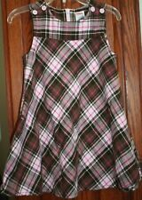 Gymboree SWEETER THAN CHOCOLATE Vintage EUC 2T Pink/brown plaid flannel dress