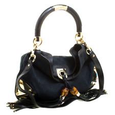 Authentic Gucci Black GG Canvas Medium Indy Top Handle Bag retail price 1650