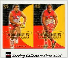 2004 Select AFL Ovation Indigenous Players Card Sydney Team set (2)