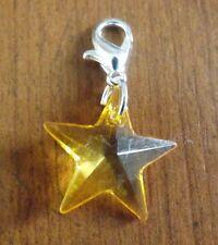 charms argentée étoile orange 19x19 mm