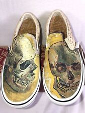 805b034a78 VANS Van Gogh Skull Slip on Skate Shoes Sneaker 22cm Mens Size 4 Womens 5.5