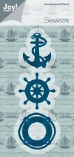 JOY CRAFTS DIE CUTTING & EMBOSSING STENCIL -  SEASHORE - ANCHOR - 6002/0418