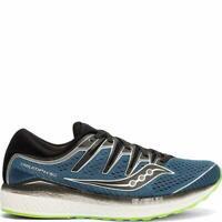 Saucony Men's Triumph ISO 5 Running Shoe, Steel/Black, 8 D(M) US