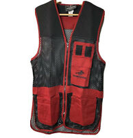 Winchester Red Black Trap Skeet Shooting Hunting Vest WTA013WM Size: SML EUC