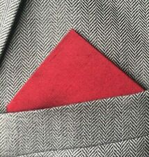 SUPERNOVA Red Silk Pocket Square Handkerchief Mod Suit Wedding