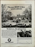 BMW 2-Litre Sports Saloon Switch On …The Going Is Fast Vintage Advert 1969
