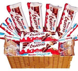 Chocolate Gift Hamper Kinder Birthday Box Basket Present Sweet Personalised