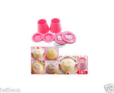 Sanrio HELLO KITTY Pudding Mold Jello Jelly Plastic Mould set kitchen ladies Q