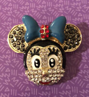 Betsey Johnson Minnie Mouse Head Blue Bow Brooch NWT ~Free Shipping ~