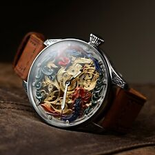 Men Skeleton watch,old Antique Pocket Watch,swiss movement, personalised watches