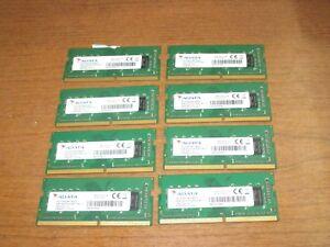 LOT OF 8 GENUINE!! ADATA 4GB PC4-2400T DDR4 RAM MEMORY STICKS TESTED!!