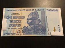Zimbabwe 100 Trillion Dollar$ UNC 2008 AA Banknote/LIMITED QUANTITY