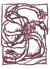 PIERRE ALECHINSKY - RARE ORIGINAL OFFSET LITHOGRAPH 1981 maeght france art