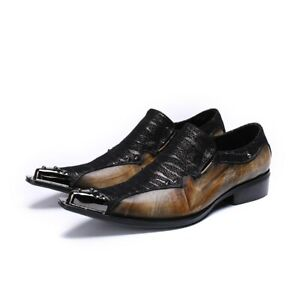 Men Shoes Genuine Leather Pointed Toe Men Dress Business Style Men Oxfords Shoes
